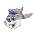 Smiling rabbit head 2 vector image vector image