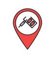tattoo studio location color icon vector image