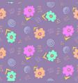 tender pale violet doodle floral pattern vector image
