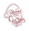 text and curls in the form of santa claus vector image vector image