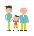 three ages of men from child to senior vector image vector image