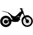 trials motorbike silhouette vector image vector image