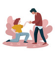 unusual proposal girlfriend kneeling woman vector image