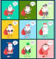 usa and china santa clauses vector image