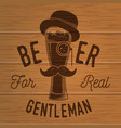 vintage design for bar pub and restaurant vector image vector image