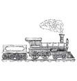 vintage steam locomotive logo design template vector image vector image
