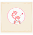 Stroller of flowers - abstract card vector image