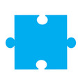 puzzle piece icon on white background puzzle vector image