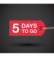 5 days left sale vector image vector image