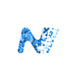 abstract letter n design for brand identity vector image vector image