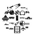 advanced technology icons set simple style