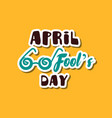 april fools day funny glasses vector image