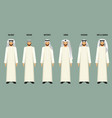 arabian men in headscarves of various types vector image vector image