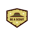 be scout logo flat style vector image vector image