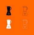 blender black and white set icon vector image