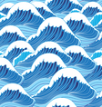 blue water vector image vector image