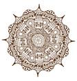 Brown Mandala Ornament vector image vector image