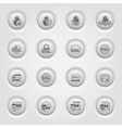 Button Design Security and Protection Icons Set vector image vector image