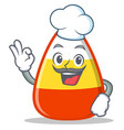 chef candy corn character cartoon vector image vector image