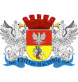 coat of arms of bialystok in podlaskie vector image
