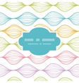 Colorful horizontal ogee frame seamless pattern vector image