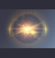 colorful magical sun light with halo effect vector image vector image