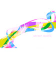 colorful shaped scene on white vector image vector image