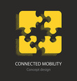 Connected mobility busines icon vector image vector image