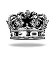 crown black and white king queen 66 vector image vector image