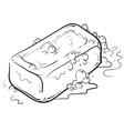 doodle soap clean vector image vector image