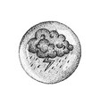 dotwork cloud thunder lightning vector image