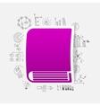 Drawing business formulas book vector image
