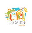 education label design back to school logo vector image vector image