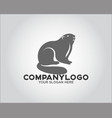 face rodent logo vector image vector image