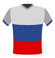 flag t-shirt of russia vector image