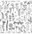 floral seamless pattern vintage background with vector image