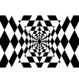geometric abstract black and white background vector image