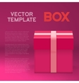 Gift Box Realistic Present Gift Box vector image vector image