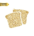 Gold glitter icon of bread isolated on vector image vector image