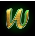 golden and green letter w vector image vector image