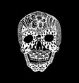 hand draw a skull zentangle trend patterns vector image vector image