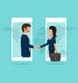 handshake business partners good deal concept vector image vector image