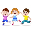 Happy children cartoon running vector image vector image