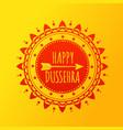 happy dussehra festival of dussehra banner vector image