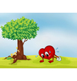heart and a tree vector image vector image