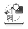 house with solar energy vector image vector image