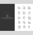 icon and logo for coffee making equipment vector image vector image