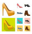 isolated object of footwear and woman sign vector image vector image