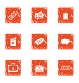 major credit icons set grunge style vector image vector image