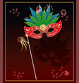 mardi grass mask colorful card vector image vector image